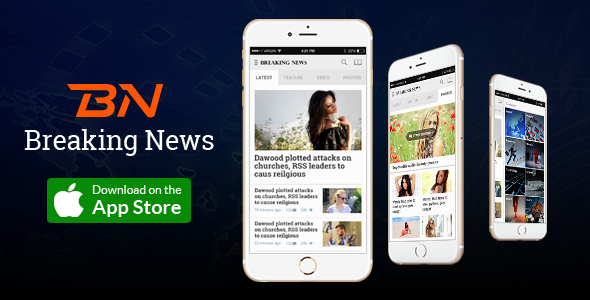 WordPress Mobile App for News, Weblog, Newspaper Web-site – Breaking News (Utilities)