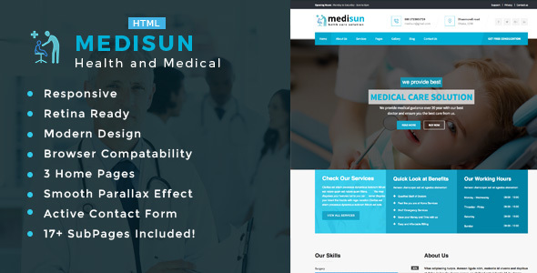 Medisun - Health And Medical HTML Template