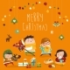 Card with Kids and Christmas Presents