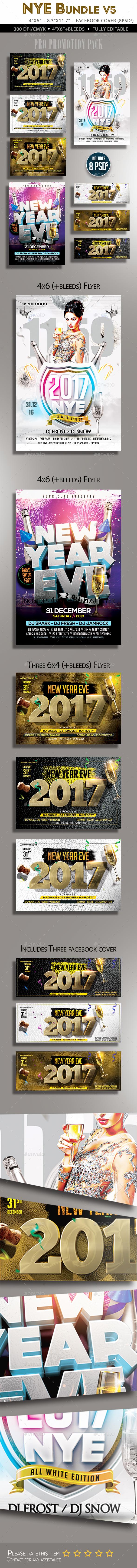 New Year Flyer Bundle v5