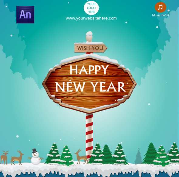 CodeCanyon Happy New year Card 19166283