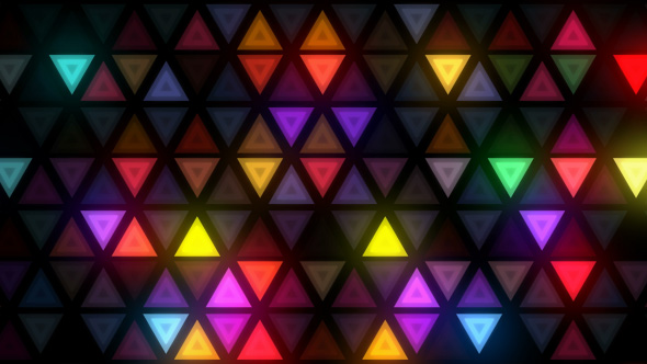 Download Colorful Flashing Triangles LED Wall nulled download