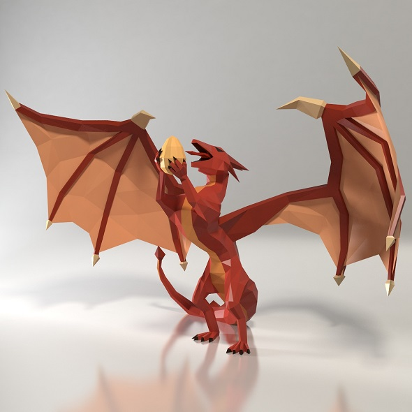 Dragon low poly style - 3DOcean Item for Sale