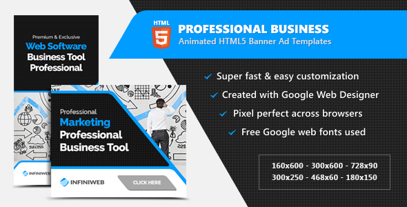 Download Professional Business HTML5 Banner Ads - Animated GWD Templates nulled download
