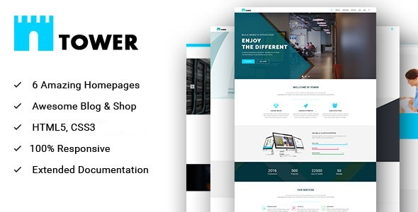 Download TOWER - Corporate Business Multipurpose WordPress Theme nulled download
