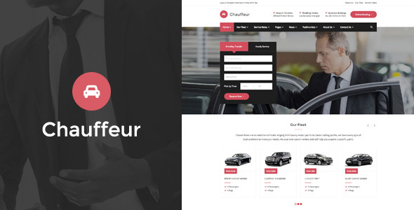 Chauffeur - Limousine, Transport And Car Hire HTML Template