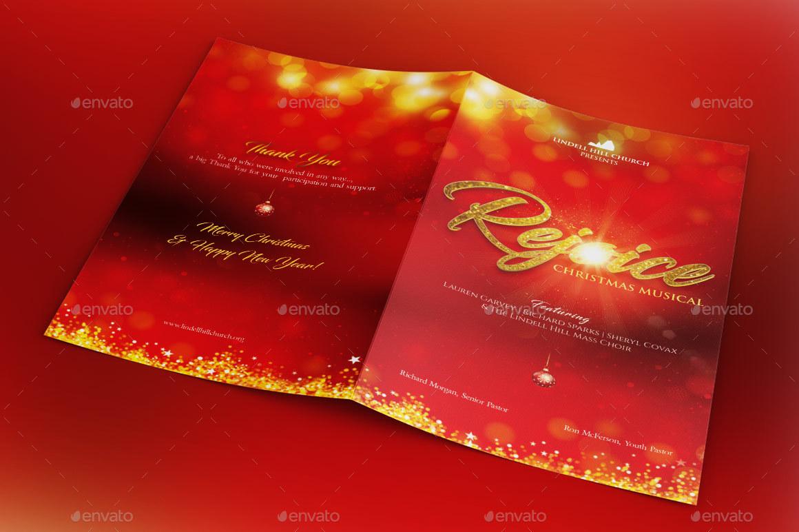 rejoice christmas cantata program template by godserv graphicriver preview image set rejoice christmas cantata program preview 1 jpg