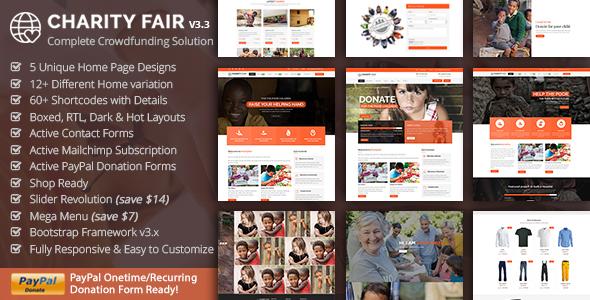 CharityFair - Nonprofit, Crowdfunding & Charity HTML5 Template