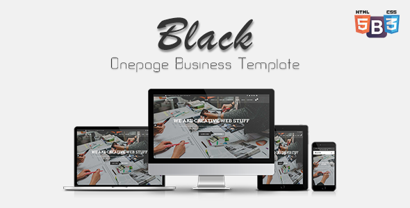 Black - Onepage Business Template
