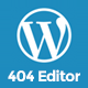 404 Page Editor for WordPress