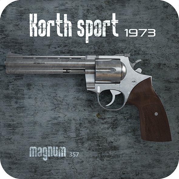 Colt Magnum 357 Korth - 3DOcean Item for Sale