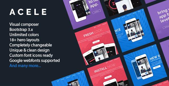 Acele - Multi Purpose App Showcase - Landing Page WordPress Theme