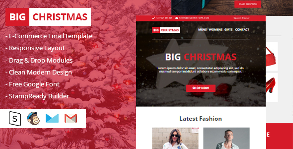Big Christmas Multipurpose Email Newsletter