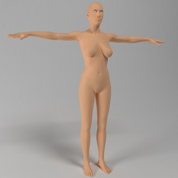 female body base mesh - 3DOcean Item for Sale