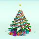 Low Poly Snow Christmas Tree