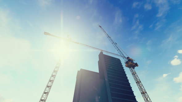 Download Construction Site With Tower Cranes nulled download