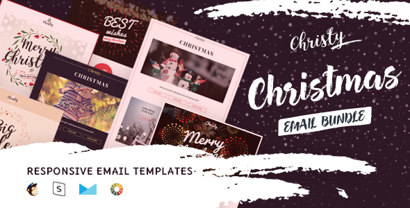 Christy - Christmas Email Templates Set + StampReady Builder