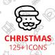 125 plus Christmas Line Icons