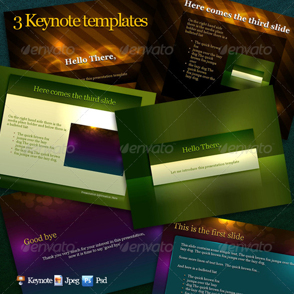 Keynotes templates pack