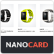 NanoCard - Responsive UI e-commerce Shopping items (cards)