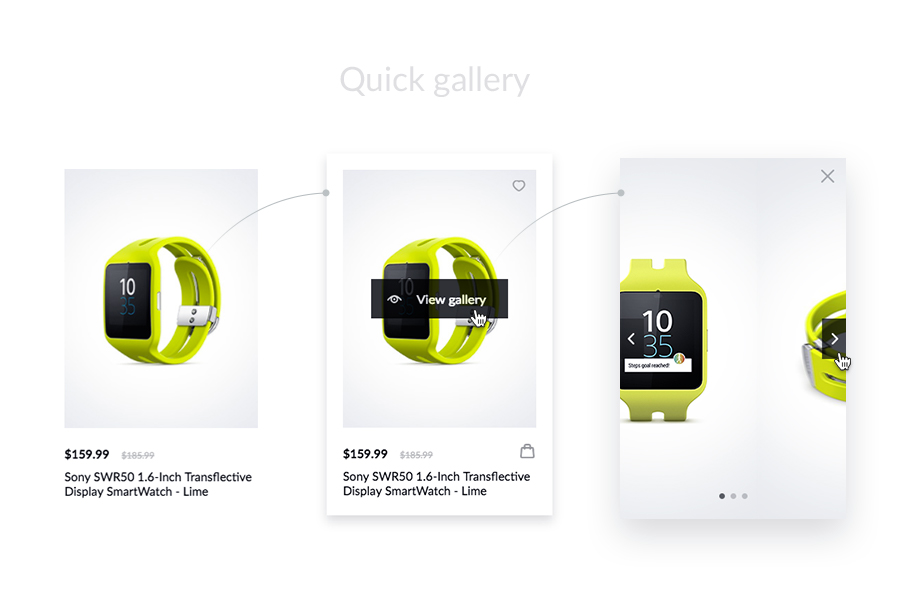 NanoCard - Responsive UI e-commerce Shopping items (cards) - 2