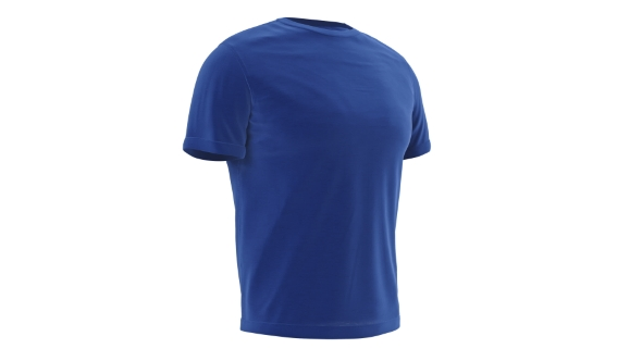 Download T-shirt Blue Mens with Short Sleeves nulled download