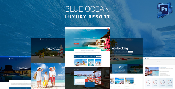 Blue Ocean – Hotels &amp Resorts Responsive WordPress Theme (Travel)
