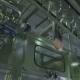 Clear Bottles Transfer on Conveyor Hanging System