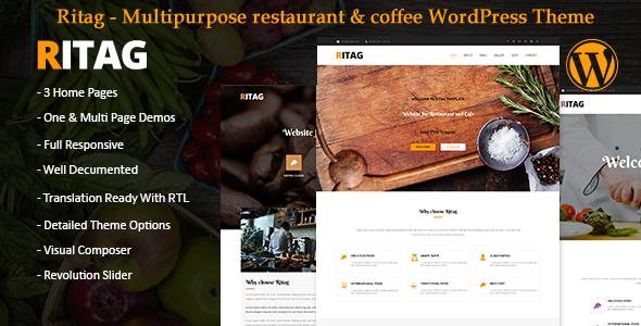 Ritag - Multipurpose restaurant & coffee WordPress Theme