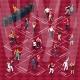 People Dancing Movements Isometric Flowchart