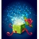 Cartoon Colorful Magic Gift Box Composition