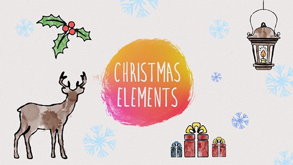 Download Christmas Elements Watercolor nulled download