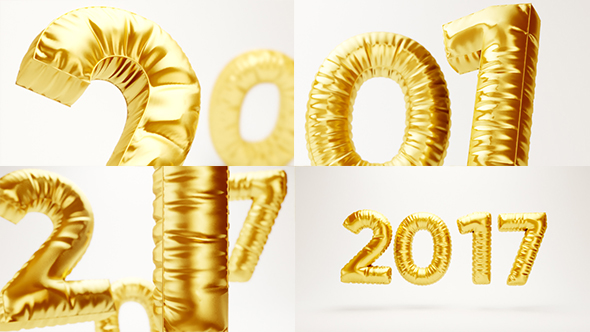 Download New Year 2017 Balloons nulled download