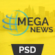 Mega News - Multipurpose News Magazine PSD Template