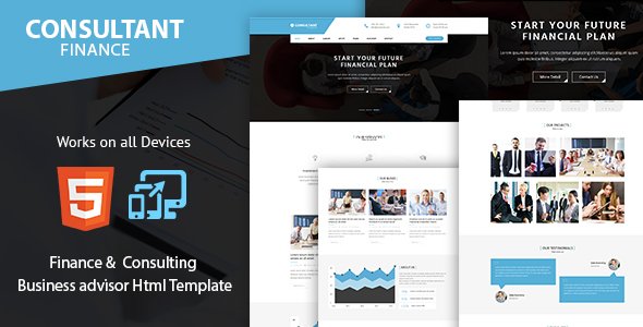 Consulting Finance and Accounts – advisor, Accounting and Business Template