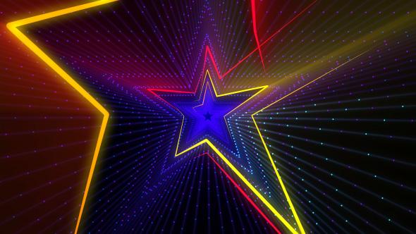 VideoHive Disco Star Lights 4K 19175990