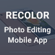 Recolor - Photo Editing Mobile App UI Kit