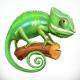 Chameleon. Vector Icon