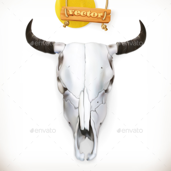 Cow Skull. Vector Icon