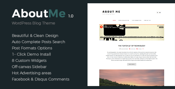 Download About Me - Creative & Clean WordPress Theme nulled download