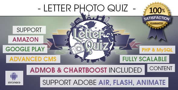 Download Letter Photo Quiz With CMS & Ads - Android nulled download