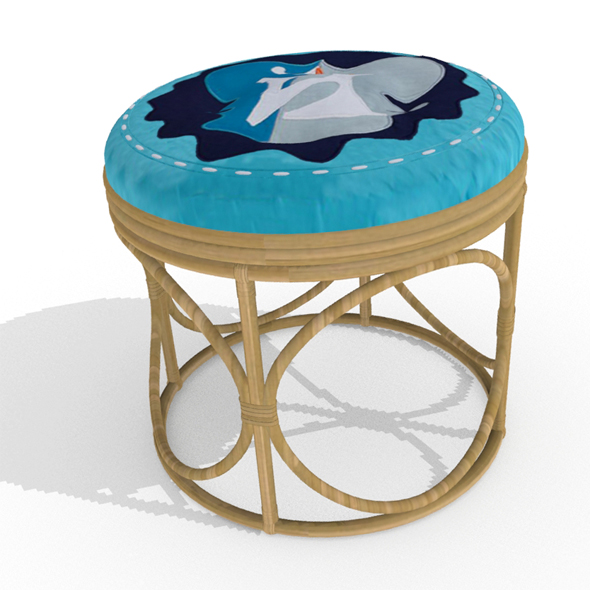 Cane Stool - 3DOcean Item for Sale