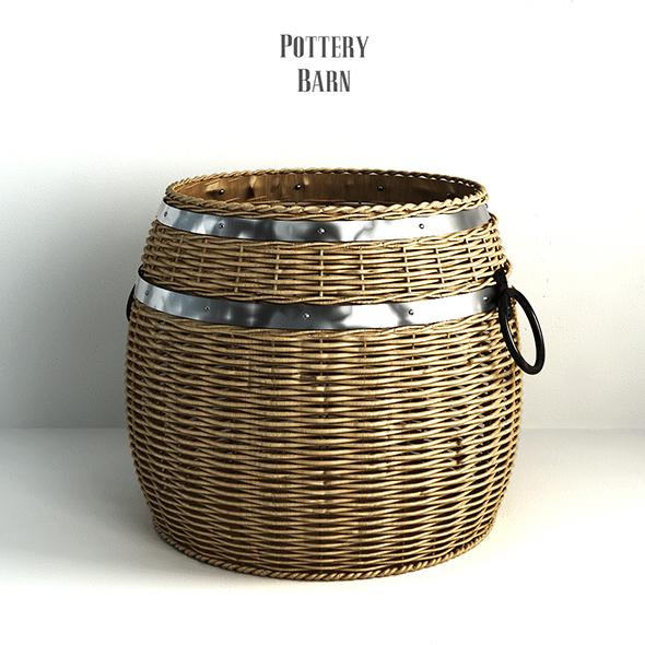 3DOcean Pottery barn Cask Lidded Basket 19177260