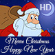 Christmas and New Year Animated Card In Different Languages Set
