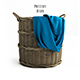 Pottery barn, Chelsea Woven Arurog Rattan Basket, Extra-Large Oval.