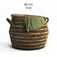 PotteryBarn, Lexine Round Lidded Basket.