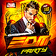 EDM Electro House Music Party Flyer