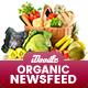 Organic Store, Farm Market, Fresh Food NewsFeed Ads - 20 PSD [02 Size Each]