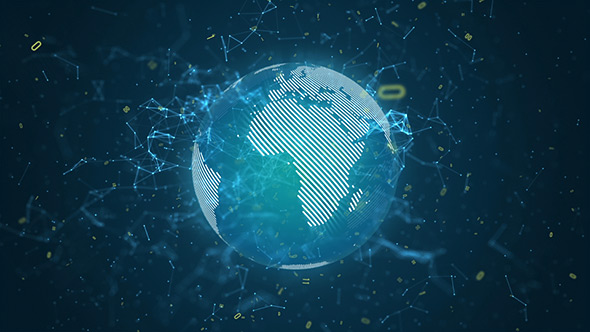 Digital Data Network World Abstract Background