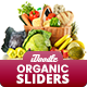 Organic Store, Farm Market, Fresh Food Sliders - 10 PSD